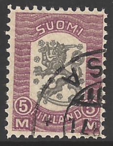 Finland SG 221, the 1918 Lion issue 5m, fine used.