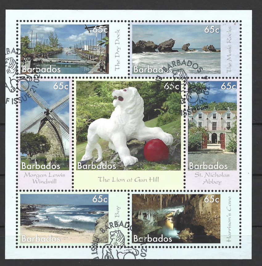 SG MS 1411. Barbados Stamps