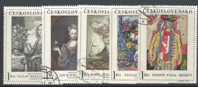 Czechoslovakia. SG 1619-23, the 1966 first Art set, fine used stamps
