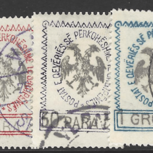 Albania. SG 22-26, the 1913 Anniversary of Independence set, fine used.
