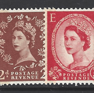 SG 599-609. Great British Stamps. Unmounted.