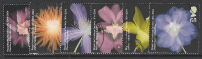 SG 2456-61. GB Stamps, Flower Stamps