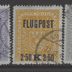 Austria SG 296-8A, Greyish Paper, fine used stamps