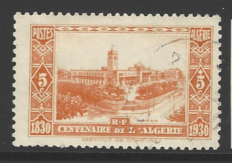 Algeria, SG 93, the 1930 Centenary of French Occupation 5c+5c, fine used.