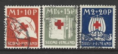 SG 278-280, Finland Stamps