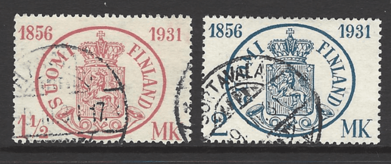 SG 287-8, Finland Stamps