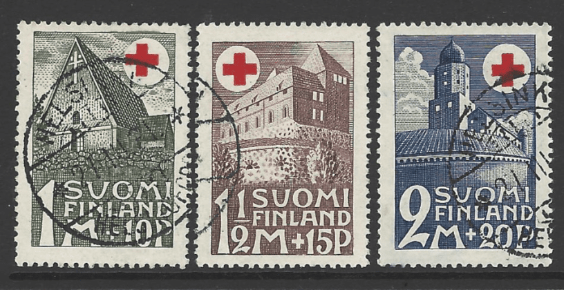 Finland SG 282-4, the 1931 Red Cross Fund set, fine used.