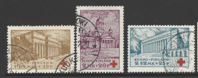 SG 293-295. Finland Stamps