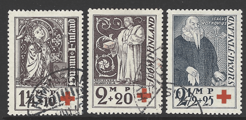 SG 296-8. Finland Stamps