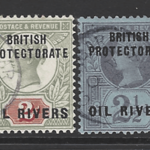 Nigeria-Oil Rivers SG 1-6. Commonwealth Stamp