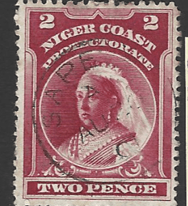 SG Niger Coast 68e. Reversed Watermark. Nigeria. Commonwealth Stamp