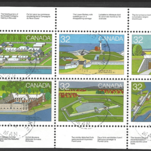 SG 1090a. Booklet Pane. Canada. Commonwealth Stamps