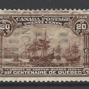 SG 195, Canada Stamp, Roller Cancel