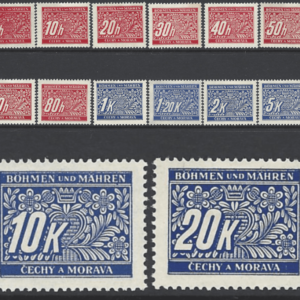 Bohemia and Moravia. SG D38-51. Unmounted Mint.