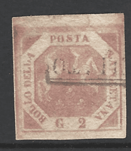 Naples SG 3A. Italian States Stamp. Europe Stamps. Robstine Extra Stamp Dealer