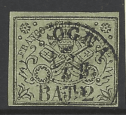 Papal States SG 11. Italian States Stamps. Europe Stamps. Robstine Extra Stamp Dealer