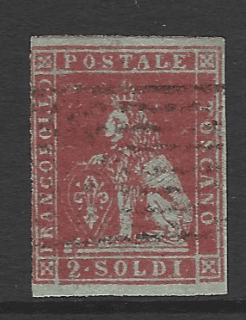 Tuscany SG 7 Italian States Stamps. Robstine Extra Stamp Dealer