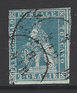 Tuscany SG 11 Italian States Stamps. Robstine Extra Stamp Dealer