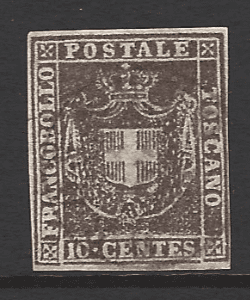 Tuscany SG 44 Italian States Stamps. Robstine Extra Stamp Dealer