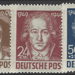 Soviet Zone- General Issues R55-9. German Zone Stamps