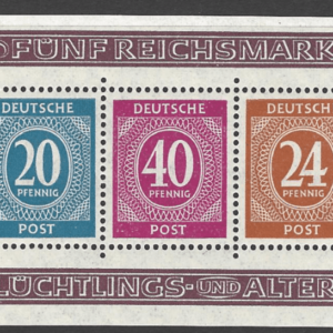 MS 925a. Perf Version. Unmounted Mint. German Stamps
