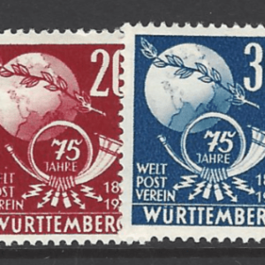 SG FW51-2. Wurttemberg. Mounted Mint. German Stamps