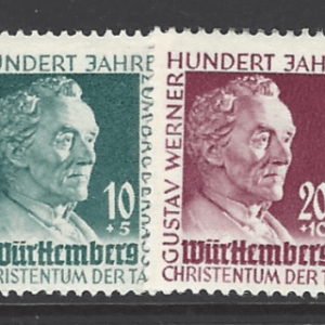 SG FW47-8. Wurttemberg. Unmounted Mint. German stamps