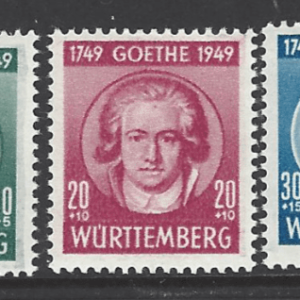 SG FW44-6. Wurttemberg. Mounted Mint. German Stamps