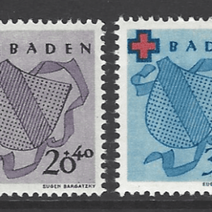SG FB42-5. Baden. Mounted Mint. German Stamps