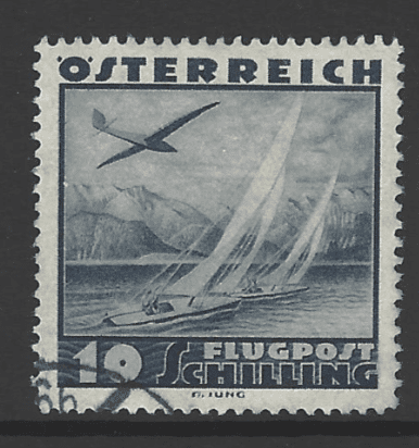 Austria SG 777 ,the 10 schilling value from the 1935 Air issue, fine used
