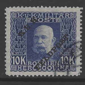 Austrian Military Post SG 21, the 1915 10k value, fine used.
