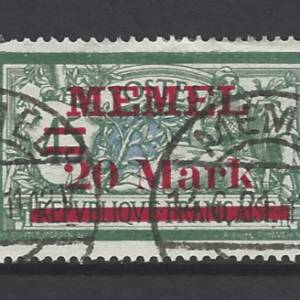 Memel SG 52, German Plebiscites stamp