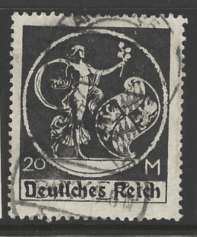 SG 136a, Straight top to R. Germany Stamps
