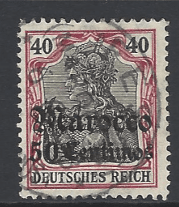 Post Offices in Morocco, SG 45. German Colony Stamps