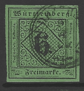Wurttemberg, SG 6. German States Stamps