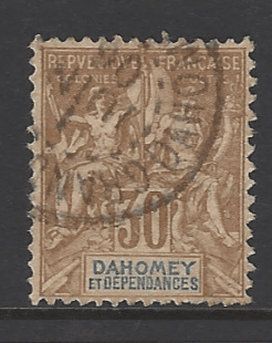 Dahomey SG 10, French Colonies stamps