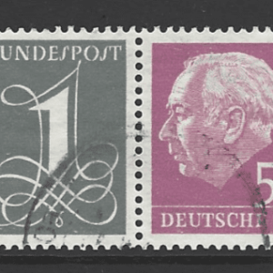 SG 1152c. Sideways watermark SE-Tenant with 5pf. West Germany Stamps