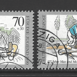 SG 2306-9, West Germany Stamps, Max and Moritz Stamps