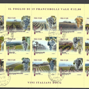 MS 3592a Sheetlet. Italy Stamps