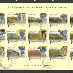 SG 3493a Sheetlet. Italy Stamps