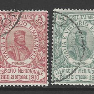 SG 83-84. Italy Stamps