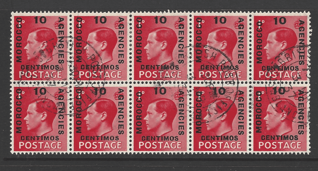 SG 161 x 4 + 161a x 6. Morocco Agencies Stamps