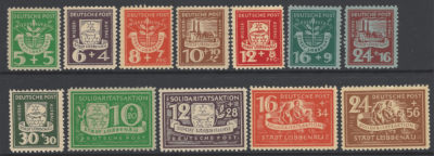 Lubbenau Michel 1-12. Mounted Mint. German Locals Stamps