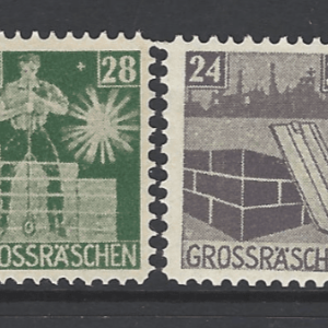 Grossraschen Michel 43-46C. Mounted Mint. German Locals Stamps