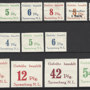Spremberg Selection. Four without gum. German Locals Stamps