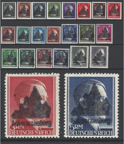 Schwarzenberg Michel 1-2-3 Type 2. Mounted Mint. German Locals Stamps. Expertised by Richter. Some stamps have a little gum disturbance.