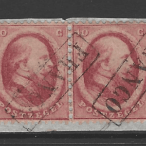 SG9, Pair On Piece, Netherlands Stamps
