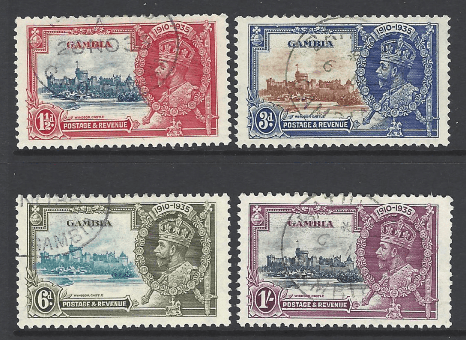 SG 143-6, Gambia stamps