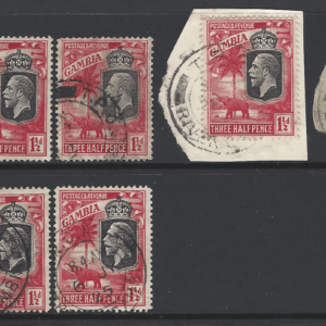 SG 125 with T.P.O River Cancellations, Gambia Stamps