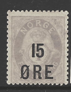 SG 125, Mounted Mint, Norway Stamp